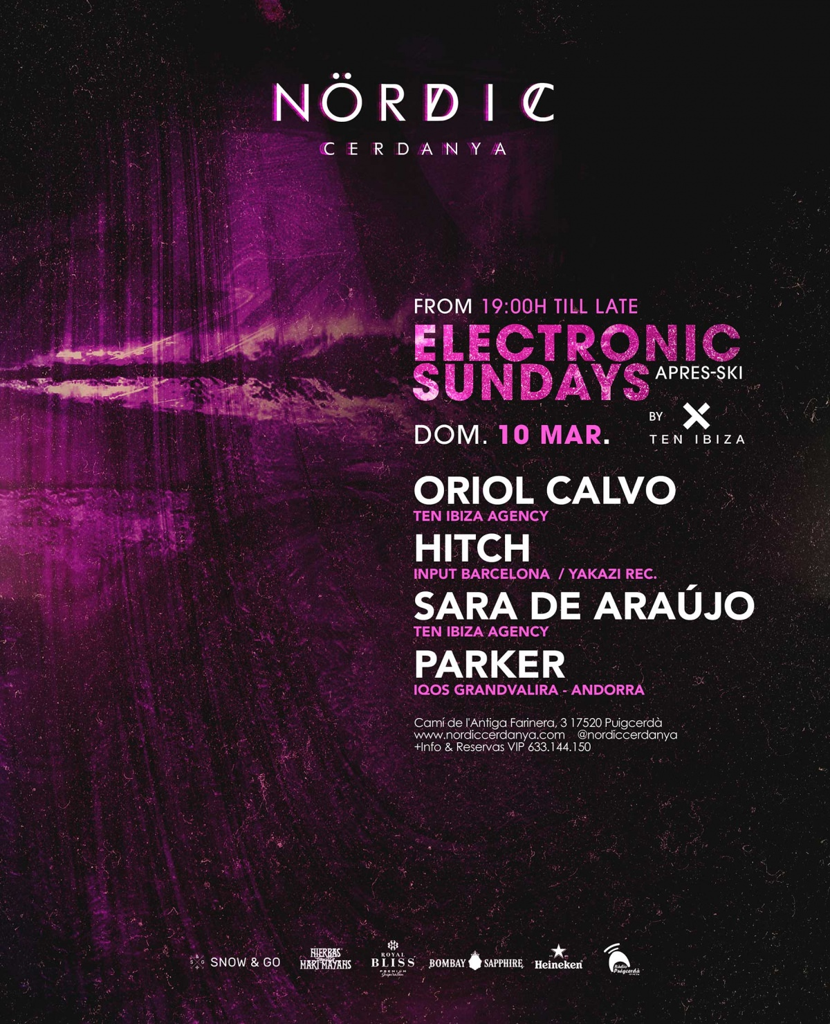 ELECTRONIC SUNDAYS apres-ski at NORDIC Cerdanya